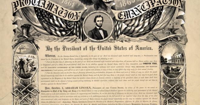 Där gjordes det Emancipationkungörelsen tal?