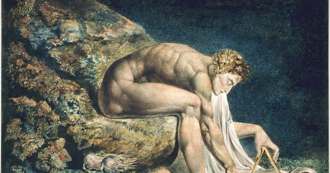 Vad såg William Blake längst ned i sin trädgård?