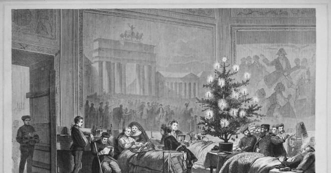 När var den tidigaste hänsyn till en julgran?