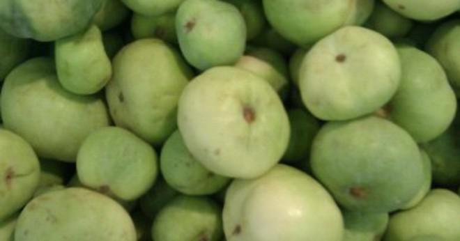 Vad är vikten av pumpa och apple i gram?