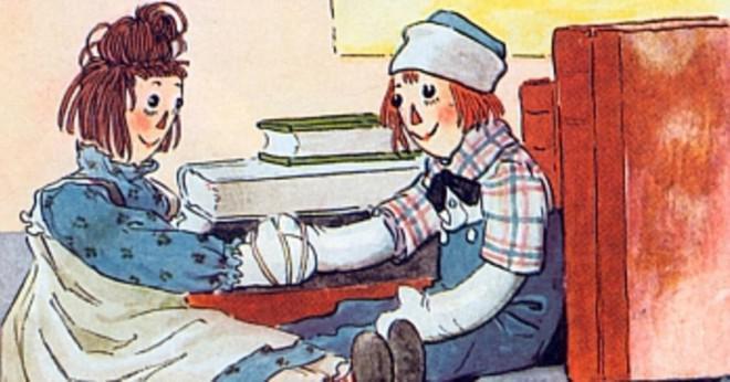 Hur mycket en 1977 raggedy ann docka värd idag?