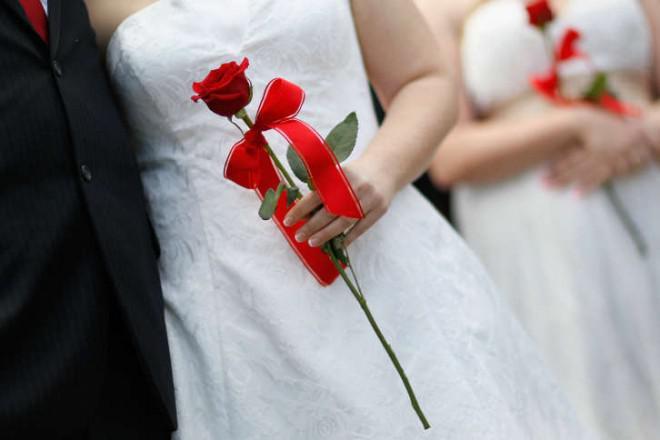 Bröllop etikett för ett omgifte