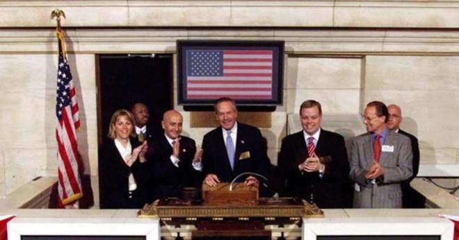Är Dow Jones företag endast handlas på NYSE?