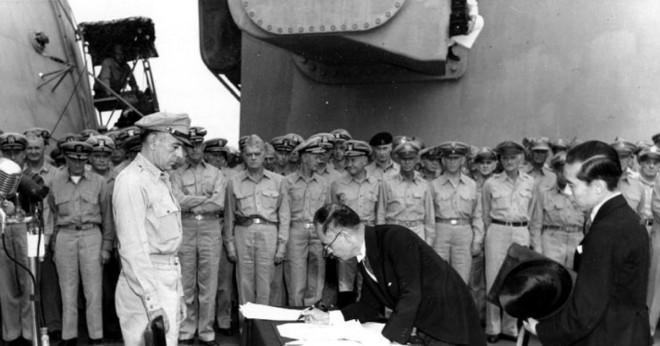Vem var President under andra världskriget 2 när en atombomb var föll på Japan?