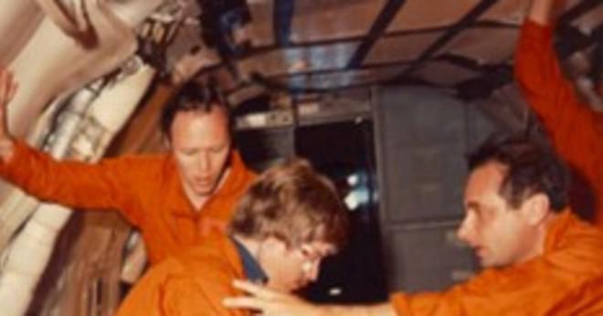 Var Senator Jake garn först i rymden?