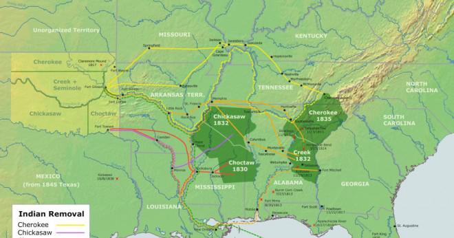 Hur många miles lång var Trail of Tears?