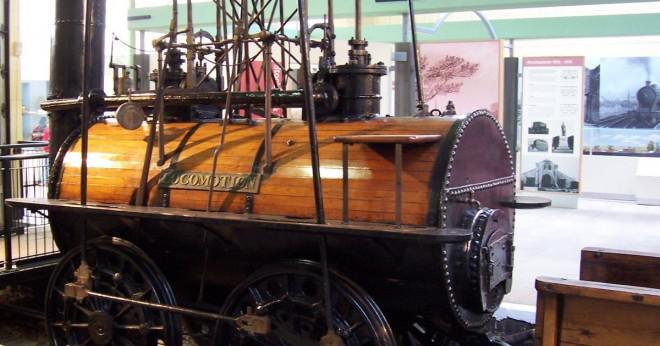 Hur har George Stephenson uppfinna järnvägen?