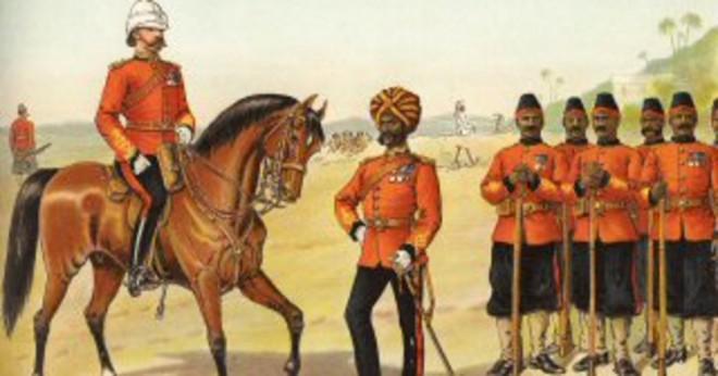 Vad upprörd sepoys under det brittiska östliga Indien företaget härskar i Indien?