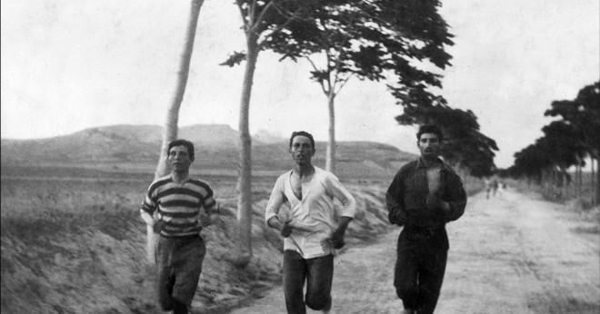Hur många miles lång var han gammal OS ras spår?