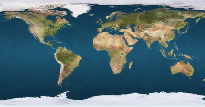 Vad är en tänkt linje som cirklar jorden från nord och syd?